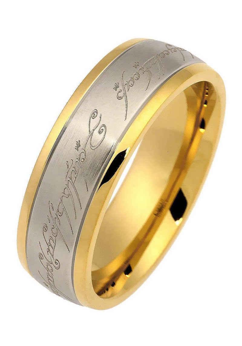 Der Herr der Ringe Fingerring »Der Eine Ring - Edelstahl bicolor, 20002165«, Made in Germany