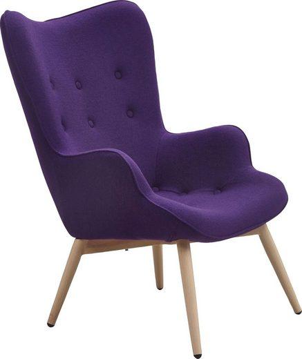 SalesFever Relaxsessel, mit dekorativer Knopfheftung