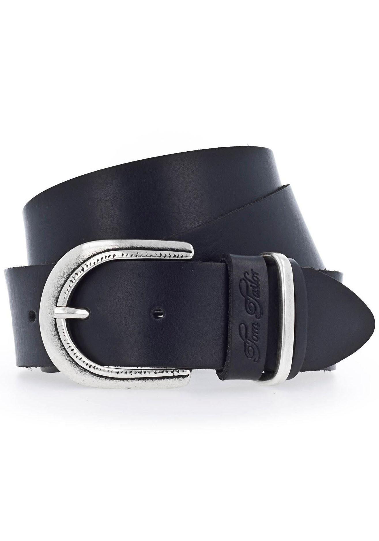 Tom Tailor Damengürtel Koppel Gürtel große Schließe Ledergürtel 40 mm schwarz