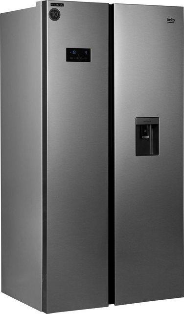 BEKO Side-by-Side GN163231XB| 179 cm hoch| 91 cm breit | Küche und Esszimmer > Küchenelektrogeräte > Kühlschränke | Glas | Beko
