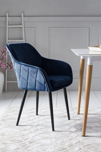SalesFever Armlehnstuhl mit Diamantsteppung auf der Rückseite
