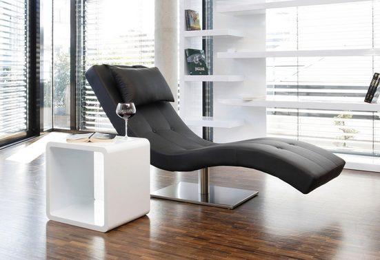 SalesFever Relaxsessel, mit Nackenkissen, Relaxliege mit modernem Metallfuß
