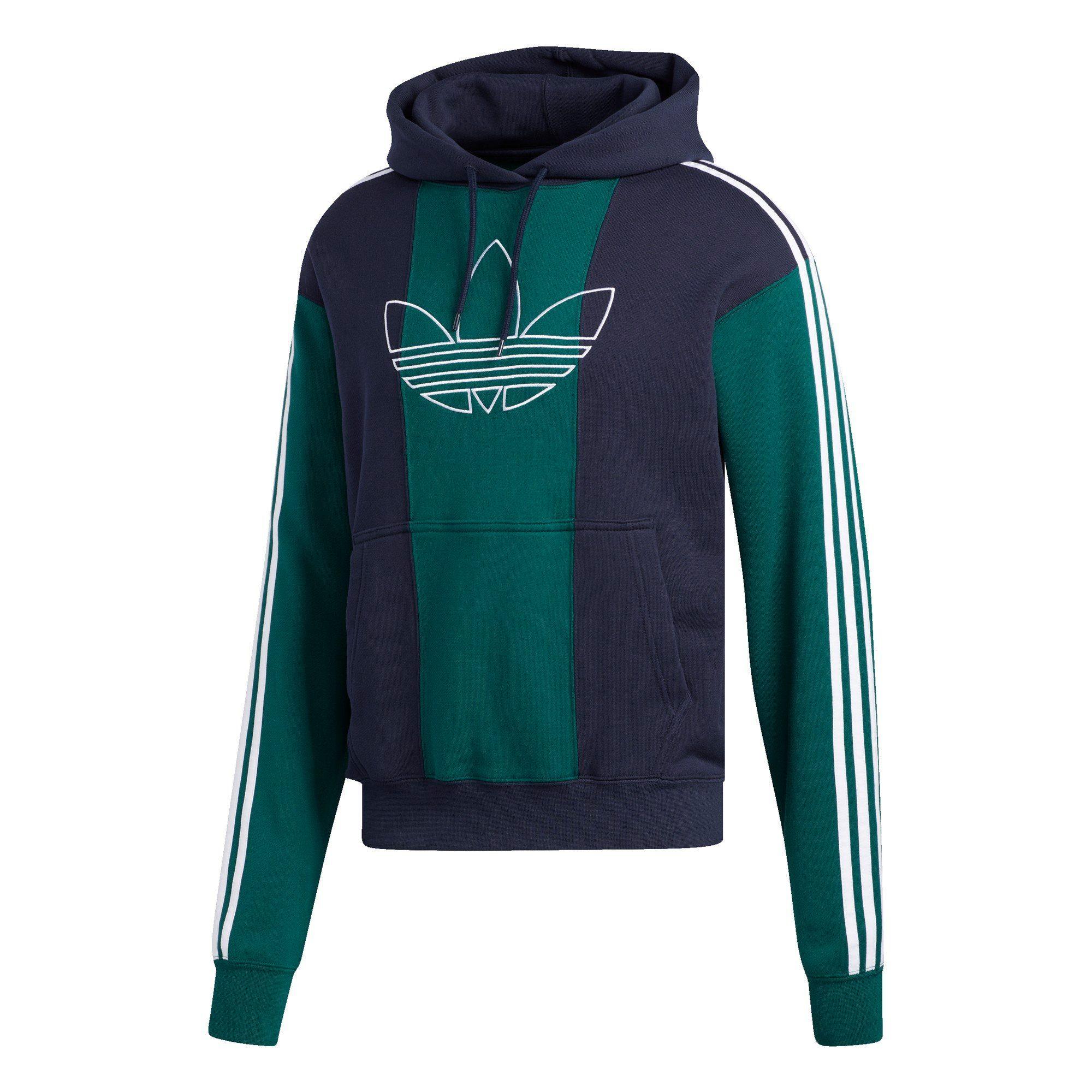 Adidas Trefoil Hoodie Kapuzenpullover in Grün Größe L Sweatshirt