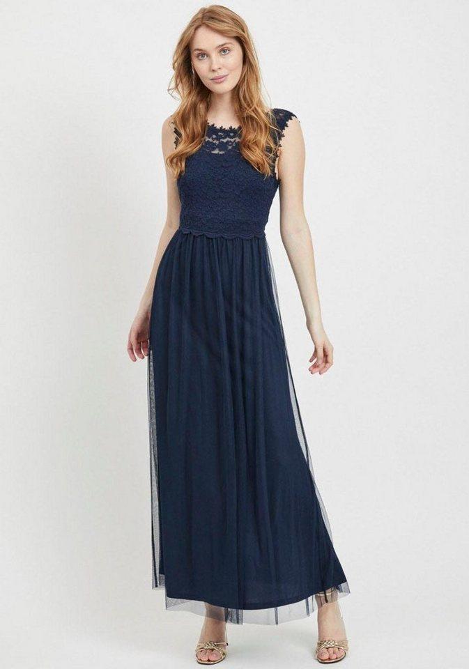 Festtagsmode - Vila Abendkleid »VILYNNEA« mit Spitze › blau  - Onlineshop OTTO
