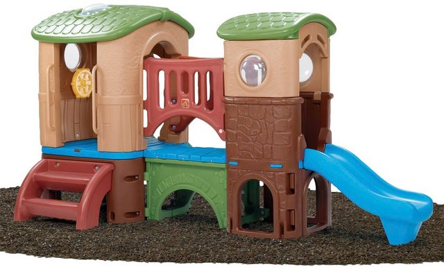 Empfehlung: Märchen Kunststoff Spielturm mit Lenkrad und Rutschen  von Step2*