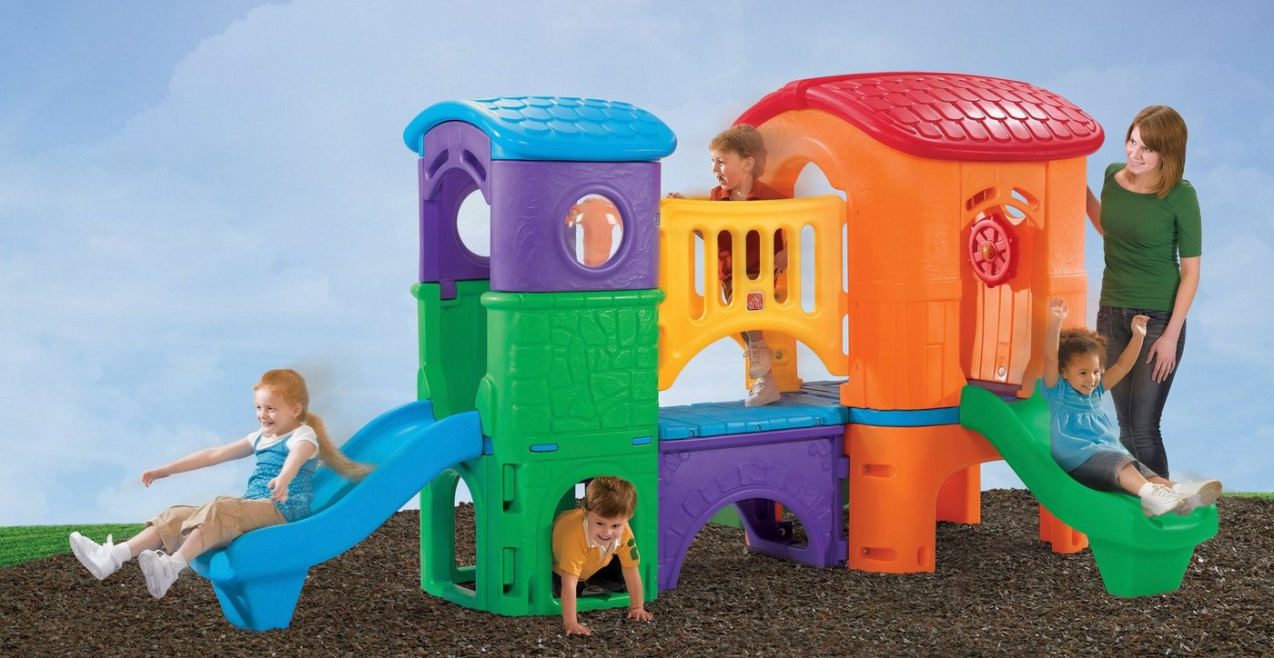 Kunststoff Märchen Spielturm mit Rutsche*