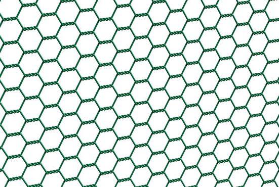 GAH ALBERTS Sechseckgeflecht 50 cm hoch, 10 m, grün beschichtet