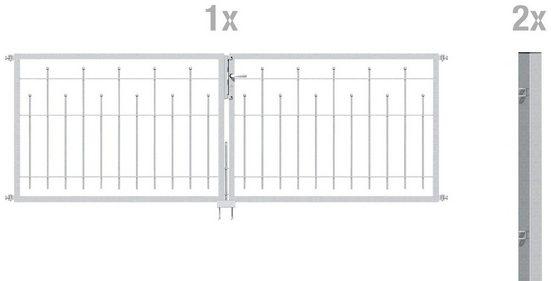 GAH ALBERTS Zaun-Doppeltür »Madrid«, 80 cm hoch, 300 cm breit