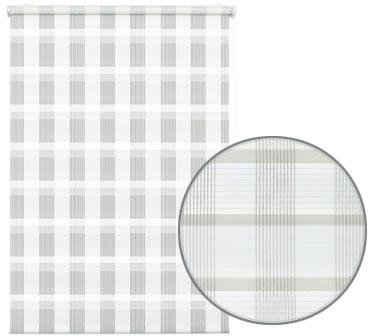 Seitenzugrollo »Mini Doppelrollo Karo«, GARDINIA, Lichtschutz, ohne Bohren, freihängend