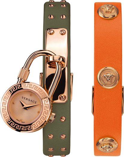 Versace Schweizer Uhr »Medusa Lock Icon, VEDW00519«, (Set, 3-tlg., mit zusätzlichem Lederband)