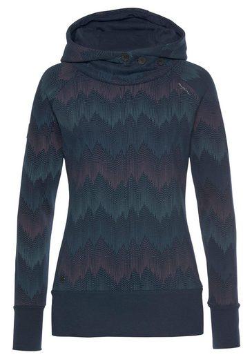 MAZINE Sweatshirt »LEONORA« mit Kapuze & Allover-Zig-Zag-Print