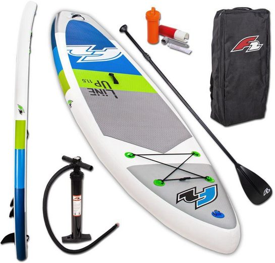 F2 Inflatable SUP-Board »F2 Line Up SMO blue mit Alupaddel«, (Set, 5 tlg)