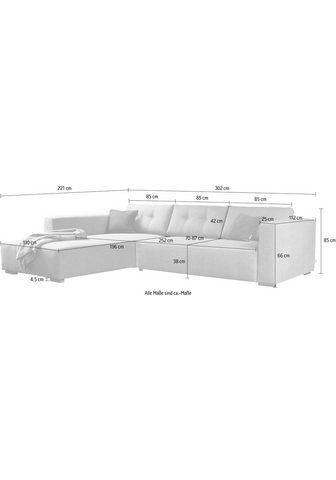TOM TAILOR Kampinė sofa »HEAVEN CHIC XL«