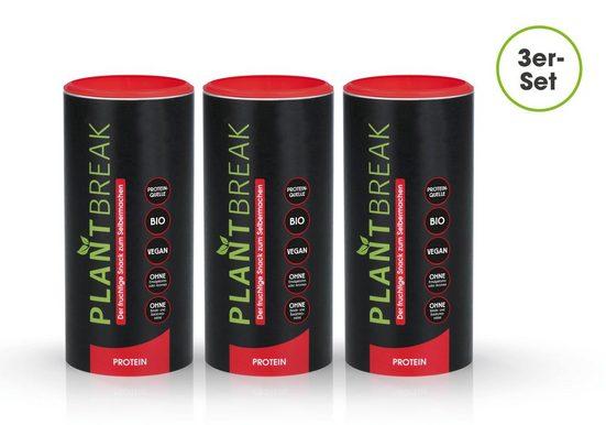 """PLANTBREAK Backmischung """"Protein"""" fruchtig 300g 3er-Set"""