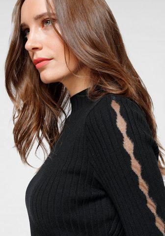 LAURA SCOTT Пуловер с воротником-стойкой