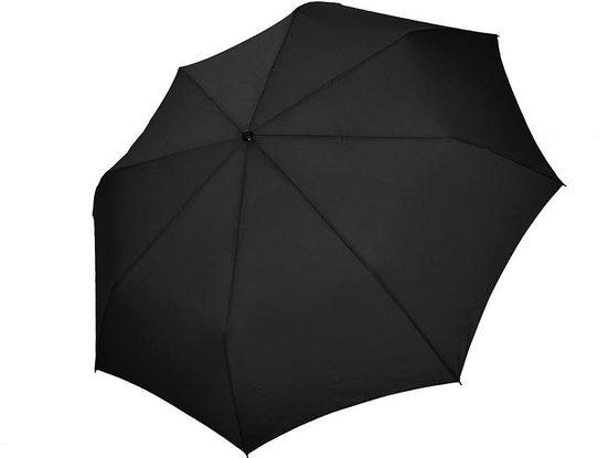 doppler® Taschenregenschirm »Carbonsteel Magic XM, uni black«, mit übergroßem Schirmdach