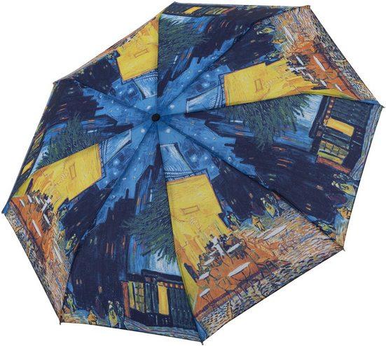 doppler® Taschenregenschirm »Art Collection Magic, Van Gogh Cafeterrasse«, mit UV-Schutz