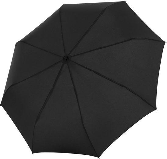 doppler® Taschenregenschirm »Fiber Magic Flipback, uni schwarz«