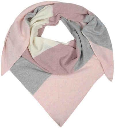 Schal Multifunktionstuch pink rosa weis grau Paisley gemustert Schlauchtuch
