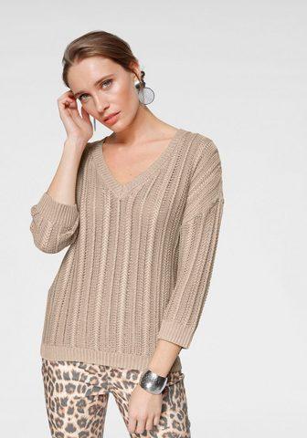 LAURA SCOTT Пуловер с V-образным вырезом