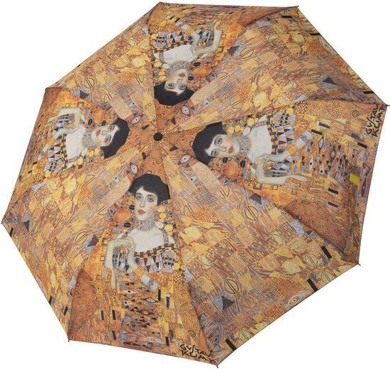 doppler® Taschenregenschirm »Art Collection Magic Mini, Klimt Adele«, mit UV-Schutz
