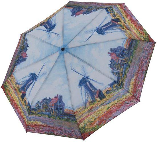 doppler® Taschenregenschirm »Art Collection Magic, Monet Windmühle«, mit UV-Schutz
