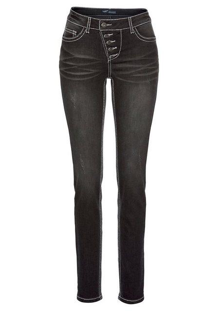 Hosen - Arizona Slim fit Jeans »Heavy Washed Shaping« Mid Waist › schwarz  - Onlineshop OTTO