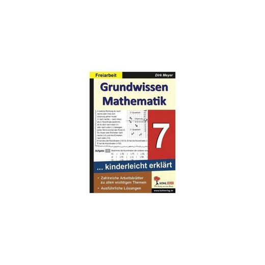 Kohl-Verlag Grundwissen Mathematik 7. Schuljahr