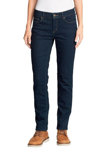 Eddie Bauer 5-Pocket-Jeans Stayshape Slim Straight - Fleecegefüttert