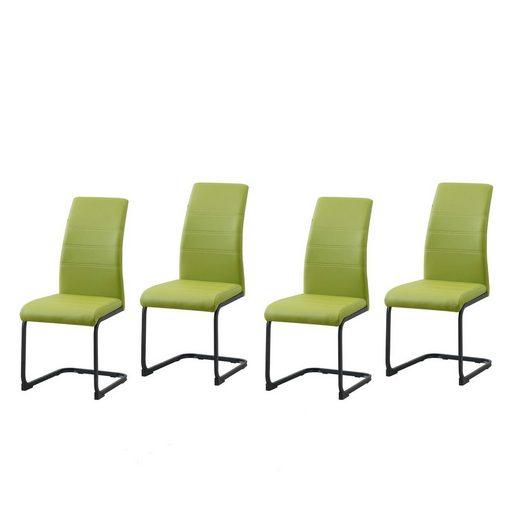 HTI-Line Schwingstuhl 4er Set PU grün »SallyP«