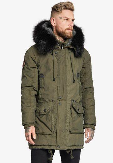 khujo Military-Jacket »TREVOR WITH DETACHABLE INNER JACKET« mit herausnehmbarem Stepp-Einsatz