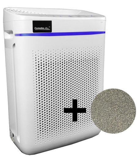 Comedes Luftreiniger Lavaero 150 eco, mit Luftqualitätsanzeige und Nanosilber, für 40 m² Räume, hocheffektive Filterkombination bestehend aus mit Nanosilber veredeltem Vorfilter, HEPA-Element und granulierter Aktivkohle