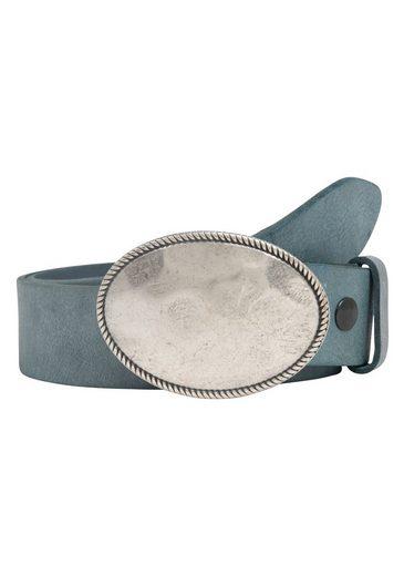 RETTUNGSRING by showroom 019° Ledergürtel »Gump mit austauschbarer Oval-Schließe«