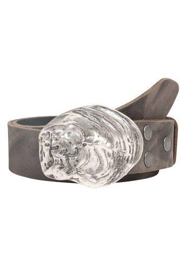 RETTUNGSRING by showroom 019° Ledergürtel »Wasserbüffel mit austauschbarer Austernmuschel-Schließe«