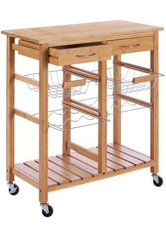 Virtuvinis vežimėlis »Bambus« 72 x 37 ...
