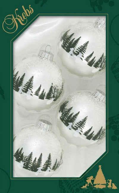 Krebs Glas Lauscha Weihnachtsbaumkugel »Kaninchen« (4 Stück)