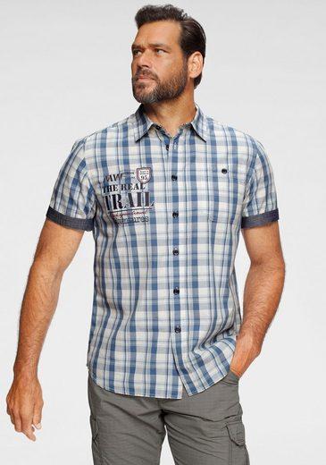 Man's World Kurzarmhemd Mit Chambray-Einsätzen an den Ärmeln