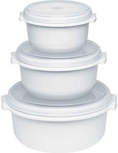 Emsa Mikrowellenbehälter »Micor Family«, Polyprophylen (PP), (Set, 3-tlg), 0,5, 1,0, 1,5 Liter