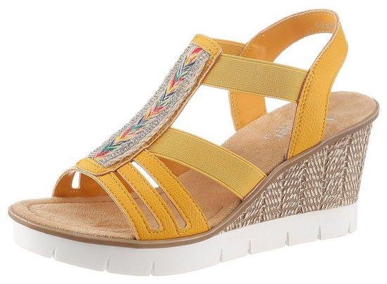 Rieker Sandalette mit trendiger Stickerei