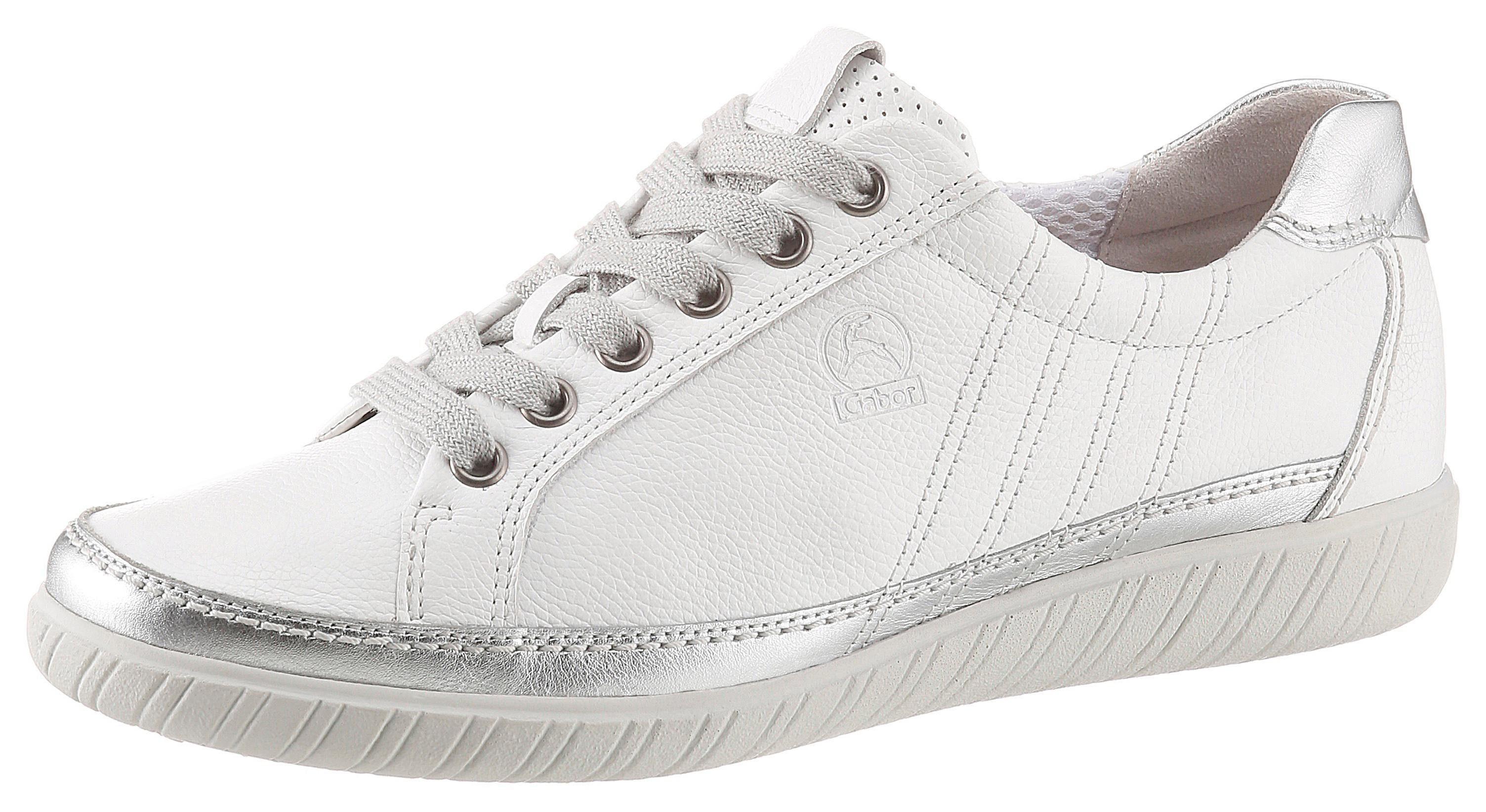 Gabor Sneaker mit modischer Ziersteppung, Sneaker mit weich abgepolstertem Schaftrand online kaufen | OTTO