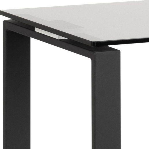 andas Konsolentisch »Karolina«  mit einer schönen Glastischplatte und einem Metallgestell  Höhe 76 cm