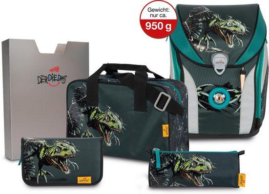 DerDieDas® Schulrucksack »ErgoFlex MAX - Dino Attack« (Set)