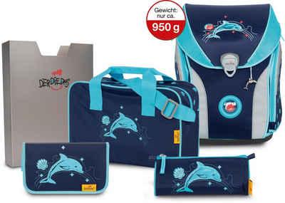 DerDieDas® Schulranzen »ErgoFlex MAX - Dolphin« (Set)