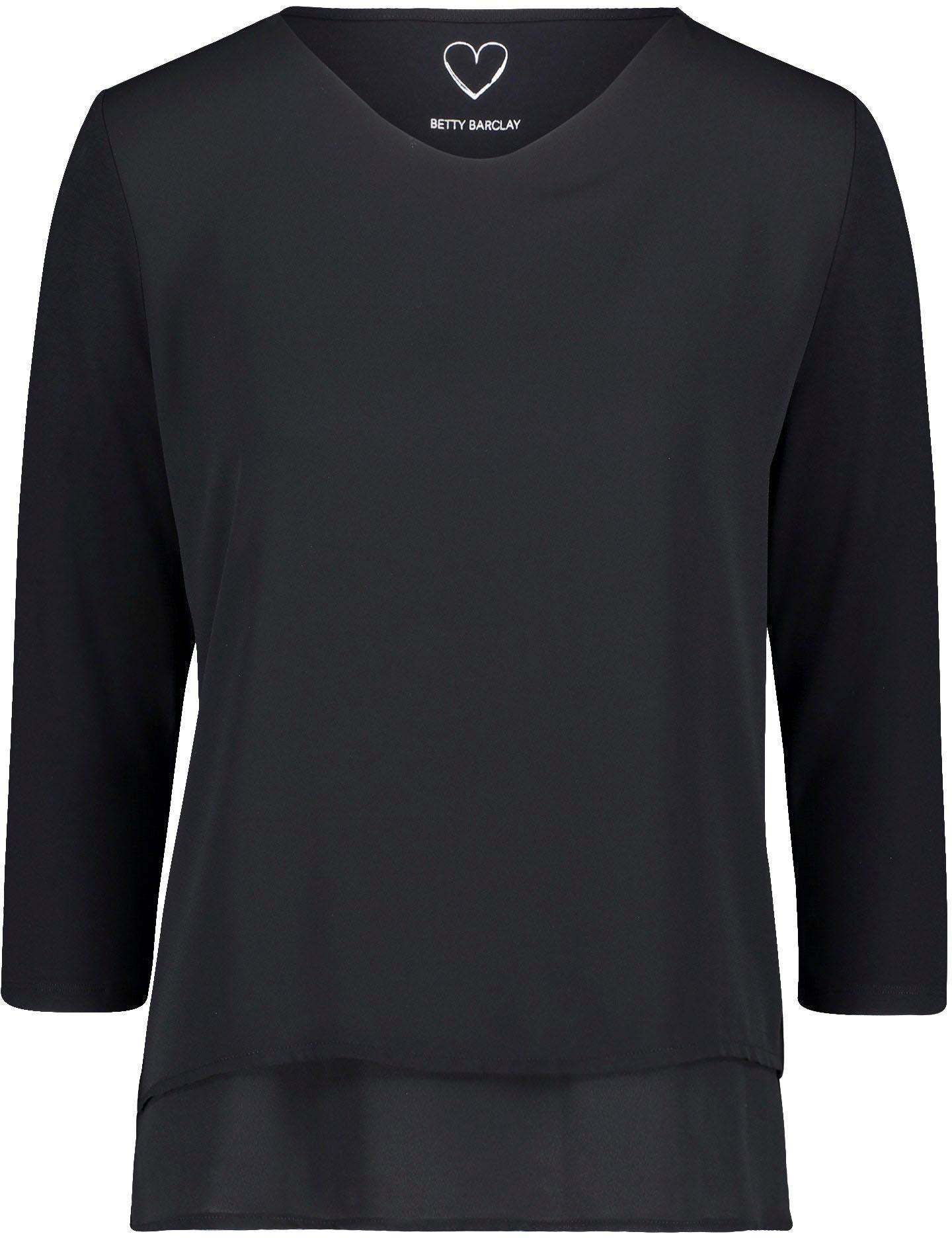 Heine Long Bluse Shirt Gr Vokuhila weich fallend 085 42-44 Rot mit Spitze