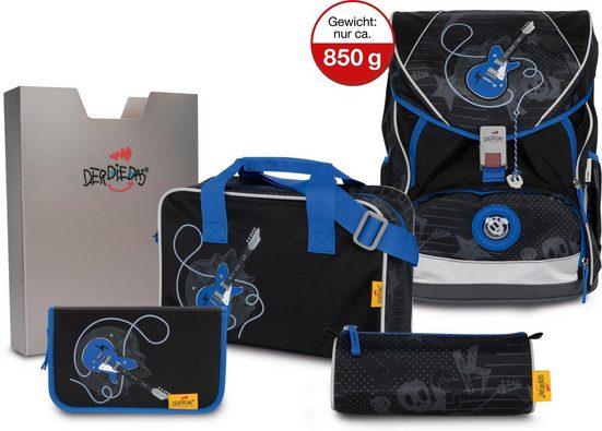 DerDieDas® Schulrucksack »ErgoFlex XL - Rock Guitar« (Set)