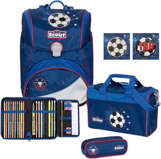 Scout Schulranzen »Alpha Premium, Football« (Set)