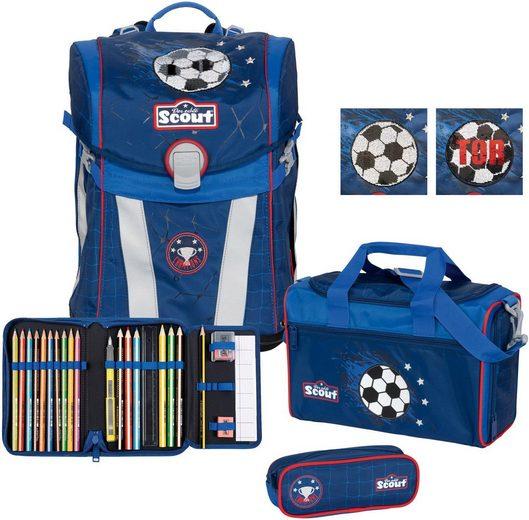 Scout Schulranzen »Sunny Premium, Football« (Set)