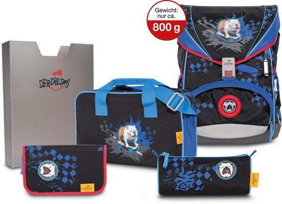 DerDieDas® Schulrucksack »ErgoFlex - Skate Dog« (Set)