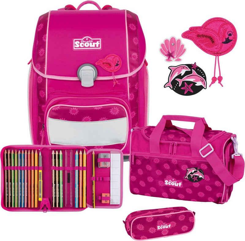 Scout Schulranzen »Genius, Pink Daisy« (Set)