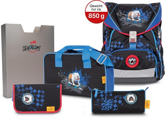 DerDieDas® Schulrucksack »ErgoFlex XL - Skate Dog« (Set)